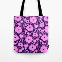 Layered Leaf Floral Pink Tote Bag
