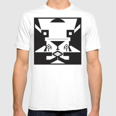 0001 SMALL Mens Fitted Tee White