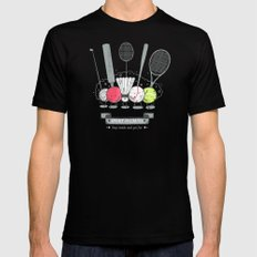 Sport is cruel Black SMALL Mens Fitted Tee