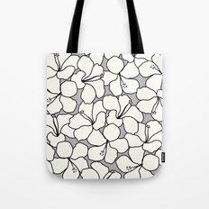 Hibiscus Animal Gray / Grey Tote Bag