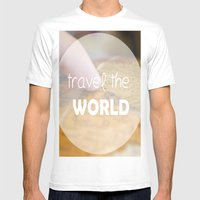 Travel The World Mens Fitted Tee White SMALL