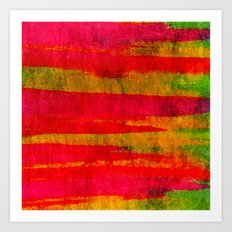 FIERCE - Intense Wild Nature Masculine Stripes Abstract Watercolor Painting Design Urban Fine Art Art Print