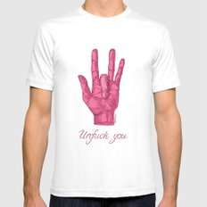 Unfuck You. Gesture Mens Fitted Tee White SMALL