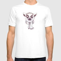 Lemur and scarf  Mens Fitted Tee White SMALL