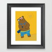 Bearkulele in 3-D Framed Art Print