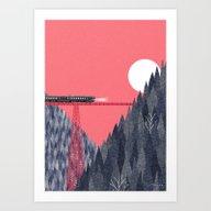 Art Print featuring Railroad Bridge by Ryo Takemasa
