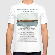 Wilmington, NC on the Cape Fear River Mens Fitted Tee White SMALL