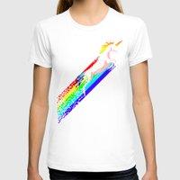 pixel T-shirts featuring Pixel Unicorn by Robert Farkas