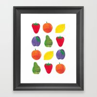 Fruits Framed Art Print