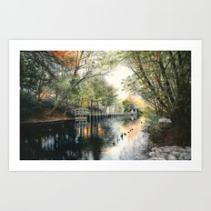 View from Hannah Park Art Print