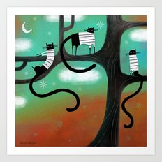 TREE LOUNGE Art Print