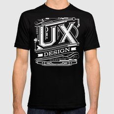 UX - Industrial Design - Red SMALL Mens Fitted Tee Black