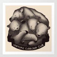 Naptime Cuddle Club Art Print
