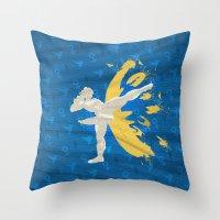 Kickin' It (An Homage To Chun-Li) Throw Pillow