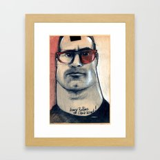 henry rollins is clark kent... Framed Art Print