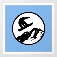 Snowboarding 1 Art Print