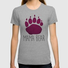 Mama Bear Womens Fitted Tee Athletic Grey SMALL