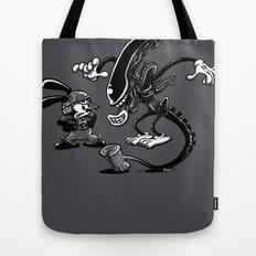 Alien vs Oswald Tote Bag