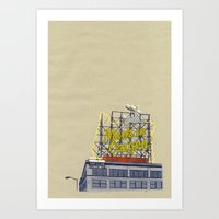 Portland print PDX Art Print