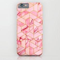 Pink Marble Hexagonal Pattern Slim Case iPhone 6s