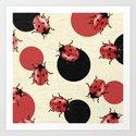 Ladybird Polka Art Print