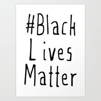 #Black Lives Matter Art Print
