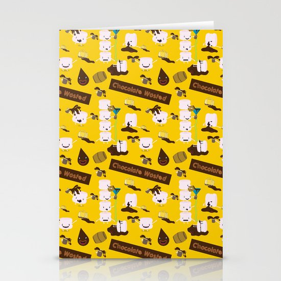 Chocolate Wasted (yellow) Stationery Card