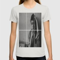 BOB DYLAN Womens Fitted Tee Silver SMALL