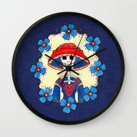 Catrina Doña Amelia Wall Clock