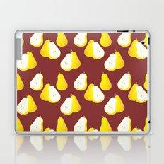 Watercolor Pear Pattern ~ Brown Laptop & iPad Skin