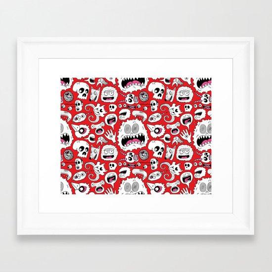 Another Monster Pattern Framed Art Print