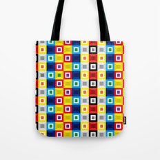 Squares Pattern Tote Bag