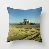 Beach Chapel  Throw Pillow