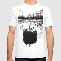 Power Plant Pumpkin Mens Fitted Tee White SMALL