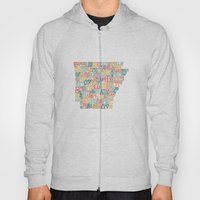 Arkansas By County Hoody