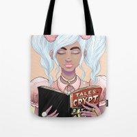 Girls read comics too, Crypt Tote Bag