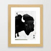 THE KING OF PRAIRIE Framed Art Print