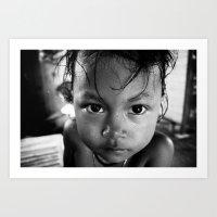 Cambodian Girl Art Print