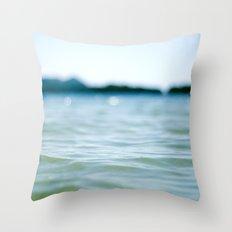 Wave Bokeh The Deep End Throw Pillow