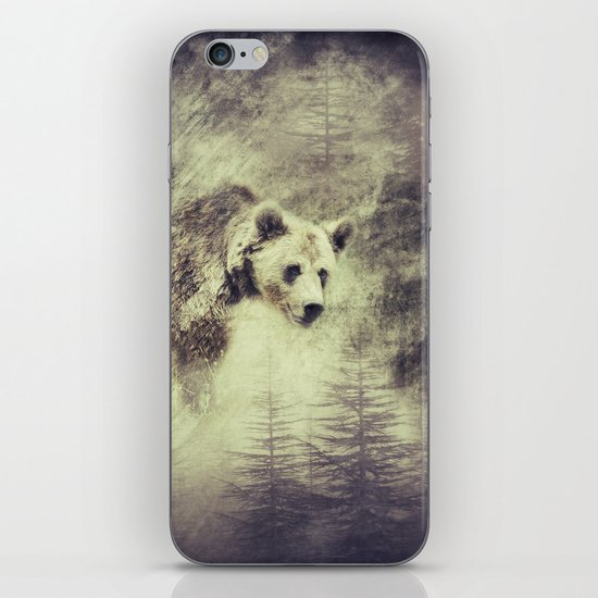 """Forest bear"" iPhone & iPod Skin"