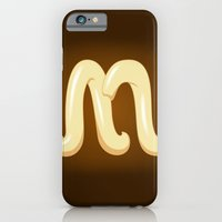 iPhone & iPod Case featuring Alphabet M by greckler