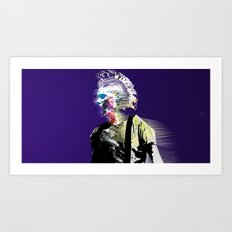 Un Nouveau Garçon (night version) Art Print