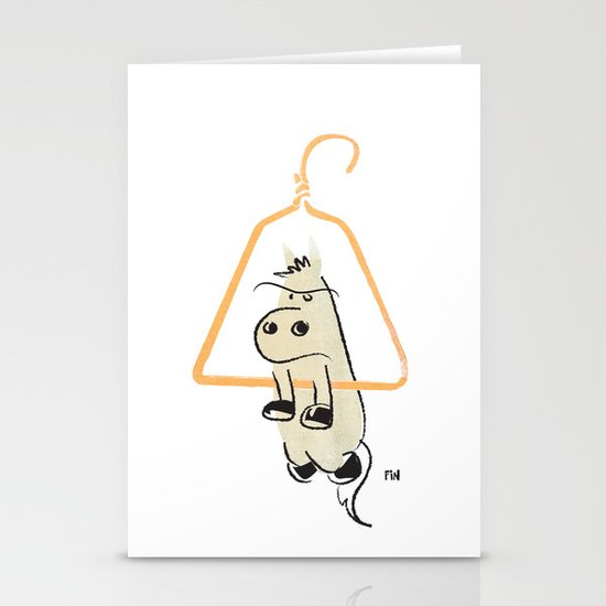 Hung Like a Horse Stationery Card