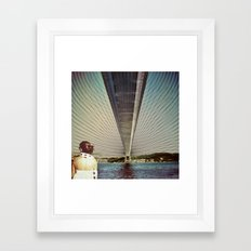 Connecting Two Continents  Framed Art Print