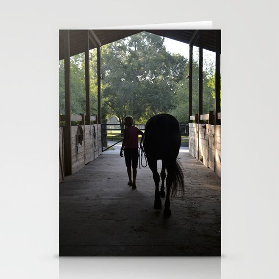 leading the way out Stationery Card