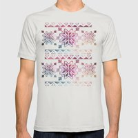 Neo-Ro Pattern Mens Fitted Tee Silver SMALL