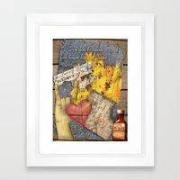 Written In Stone Framed Art Print
