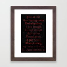 Star Wars Sith Code Framed Art Print