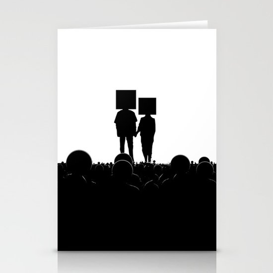 I have you. You have me. - US AND THEM Stationery Card