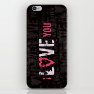 iPhone & iPod Skin featuring I Love You II by Artemio Studio